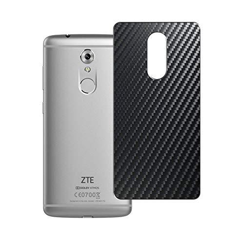 Vaxson 2 Unidades Protector de pantalla Posterior, compatible con ZTE Axon 7 mini Axon7 mini, Película Protectora Espalda Skin Cover - Fibra de Carbono Negro