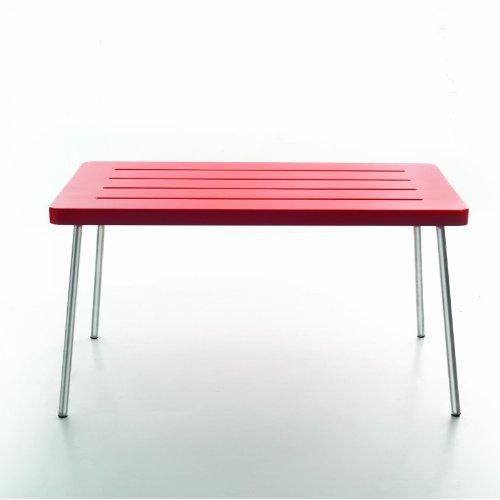Serra lunga Time Out Half Table Mesa, Rojo polietileno tamaño 1150x 75cm