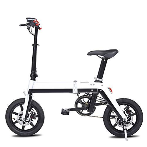DOS Bicicleta Eléctrica Plegable de Aleación de Aluminio de 350 Vatios Bicicleta...