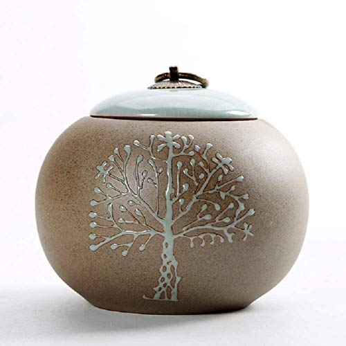 liangh Urnas Funeraria para Cenizas De Mascota,urna De Cremación para Cenizas Humanas Adulto,Grande Urnas,14×14×13cm,C