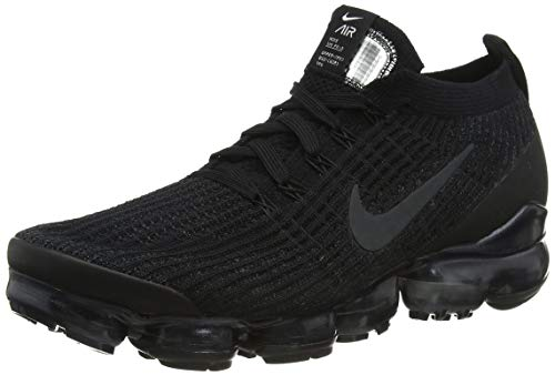 Nike Air Vapormax Flyknit 3, Zapatillas de Atletismo Hombre, Multicolor (Black/Anthracite/White/Metallic Silver 000), 40 EU