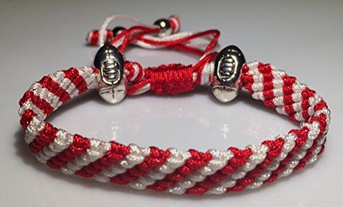 Mary's Terrace bracelet of cordes in RUGBY Couleurs. Faite à la Main sur Commande. Toutes les equipes de rugby disponibles GLOUCESTER