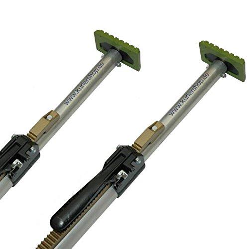 kuriershop 2 x Klemmbalken, Aluminium, 42 mm, verstellbar 1,68-2,05 m