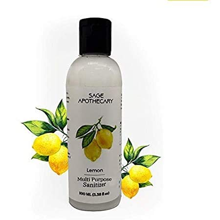 Sage Apothecary Lemon Multi Purpose Sanitizer For Hand - 100 ML