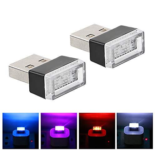 USB-Anschlüsse für Auto-Zigarettenanzünder PC-Auto LED-Stimmungslichter Auto-Styling Dekorative Lampe Notbeleuchtung (Rot)