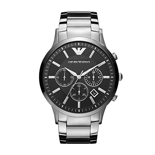 Emporio Armani Men's Chronograph Quartz Watch with Stainless Steel Strap AR2460