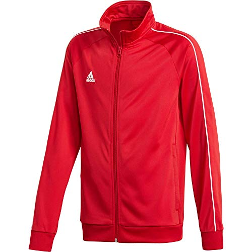 Adidas Core18 PES Jkty, Giacca Sportiva Unisex Bambini, Power Red/White, 15/16