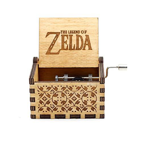 Antieke houten muziekdoos Queen Music Theme met de hand bediende muziekdoos verjaardagscadeaus Zelda (stad)