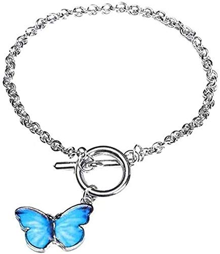 FACAIBA Necklace Woman Man Cold Wind Butterfly Small Circle Couple Bracelet Minority Design Honey Bracelet Simple Personality High Sense