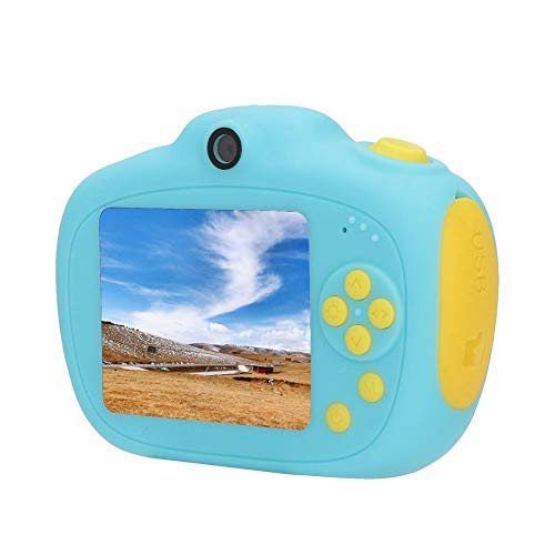 Fotocamera digitale per bambini, Mini fotocamera digitale per bambini Doppia fotocamera 12mp Blu Fotocamera per bambini Selfie Registrazione video, Regalo giocattolo per bambini Ragazzi Ragazze
