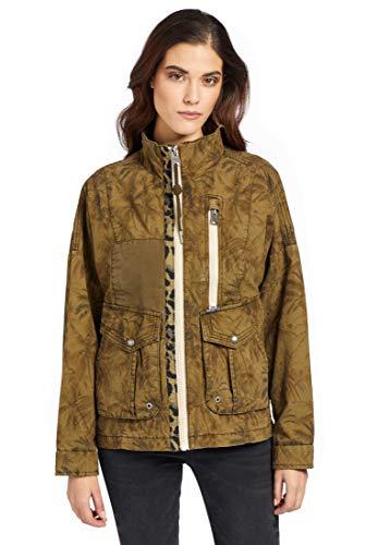 khujo Damen Jacke Sheryl Kurze Sommerjacke aus Baumwolle mit vielen Taschen Oversized
