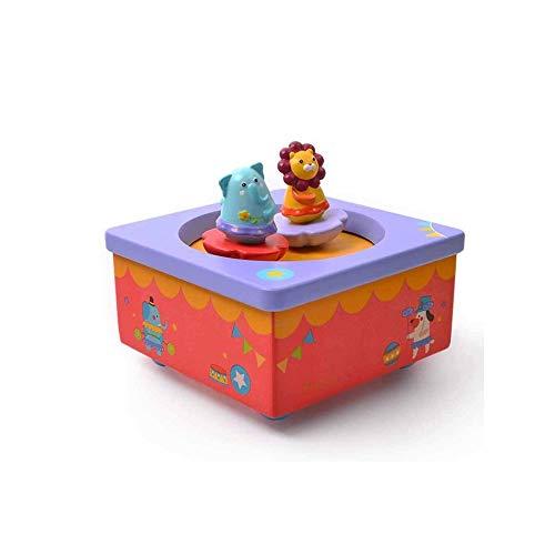 Release Dancing Fairy caja de música, caja de música de madera con las muñecas, caja de caja de música de música de los juguetes de los niños