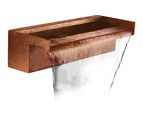 60cm Corten Steel Waterfall Blade Cascade Rear Supply (Sheer Descent)