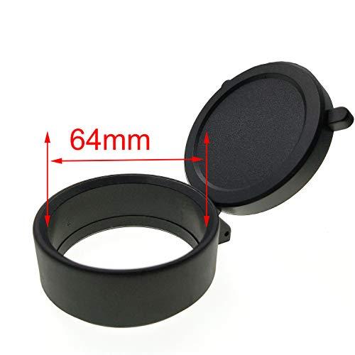 Hauska Zielfernrohrschutz Defender Flip Open Scope Lens Cover Abdeckung Objektiv Cap (64mm (2.09inch))