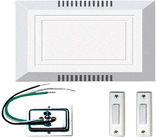 Craftmade C102L Builder Door Chime Kit with 2 Lighted Buttons, White (5