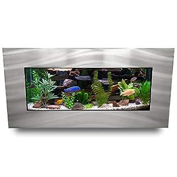 Aussie Aquariums AA-Skyline-BSILVER 2.0 Wall Mounted Aquarium Brushed Silver