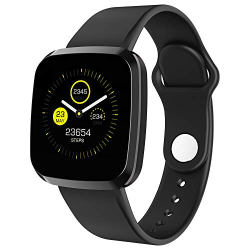 Fitness Watch, Wearable Activity Tracker Sports Watch with Heart Rate Monitor, Waterproof Smart Wristband Pedometer Watch for Kids Woman Man Best Fitness Present,Black