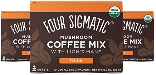 Four Sigmatic Mushroom Coffee Lion's Mane and Chaga Pack of 3 (30 Packets Total)