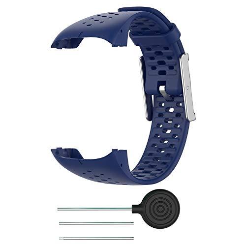 Correa de silicona para reloj compatible con Polar M400 / M430, correa de silicona para muñeca, correa de reloj con cierre, pulseras compatibles con Polar M400 M430, correa de reloj inteligente