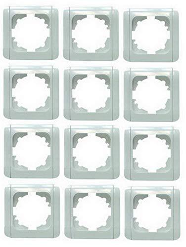 12pieza (.) Marco para interruptores (1blanco con clips viko para EGB de elegante Interruptor y enchufes 080200X 12profesional de Pack