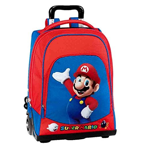 Super Mario Trolley Zaino Organizzato Scuola/Viaggio 65064