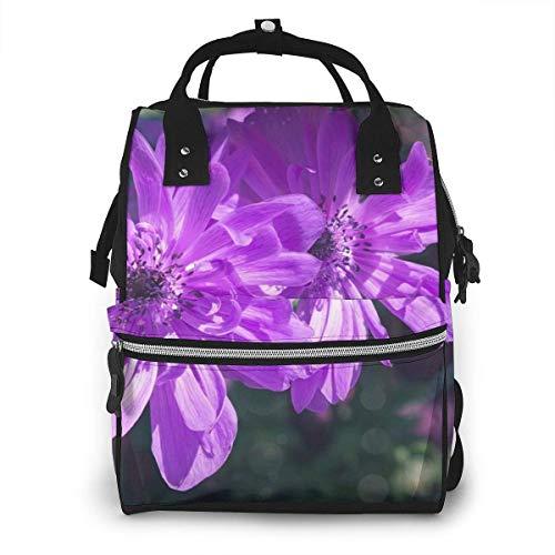 Mochila de momia KQJH, flor de jardín de anémona, mochila para pañales,...