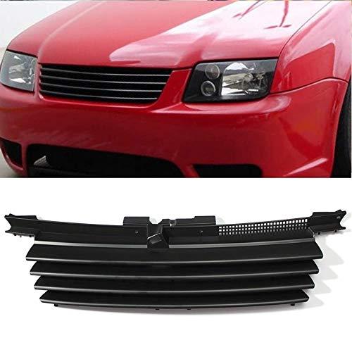 ZMMWDE Schwarzer Autogrill - Mattschwarzer Motorhaubengrill 1J5853655C,Für Jetta/Bora MK4 1999-2004