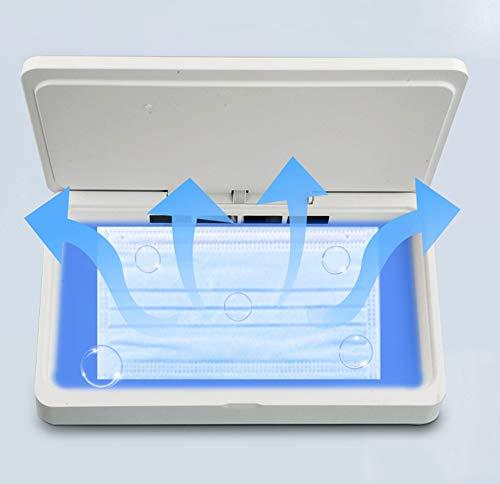 JFSKD Sterilisator voor mobiele telefoon, sterilisator, doos, sterilisator en desinfectie voor mobiele telefoon, sleutels, gadget, schoonheidsartikel, USB-oplading