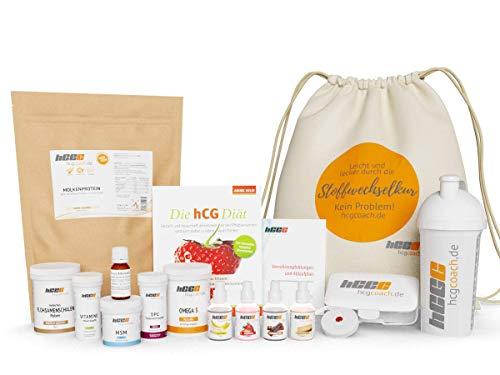 hCGC 35% Rabatt: 30 Tage Komplettpaket mit homöopathischen HCG-Globuli, hCG Diät/Stoffwechselkur