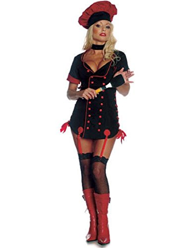 Seven Til Midnight Sizzle Chef Women Small (4-6) Halloween Costume (Black/Red)