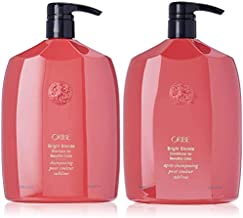 Oribe Bright Blonde Shampoo and Conditioner for Beautiful Color Liter Bundle