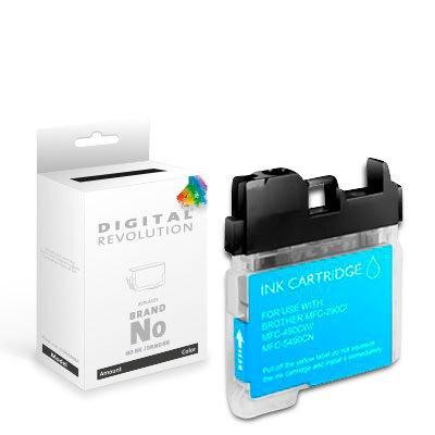 Digital Revolution Tintenpatrone - Brother LC-1100 LC-980 Cyan - kompatible XXXL Druckerpatrone - 20 ml - Tintenpatrone passend für Brother DCP und MFC