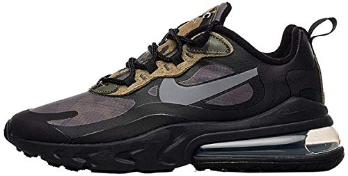 Nike Air Max 270 React, Scarpe da Ginnastica Uomo, Multicolore (Black/White/Anthracite), 42.5 EU