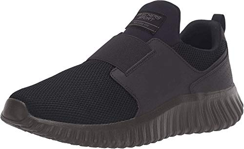 Skechers Sport Depth Charge Slip-On Athletic Shoe Men's Slip On 14 3E US Black