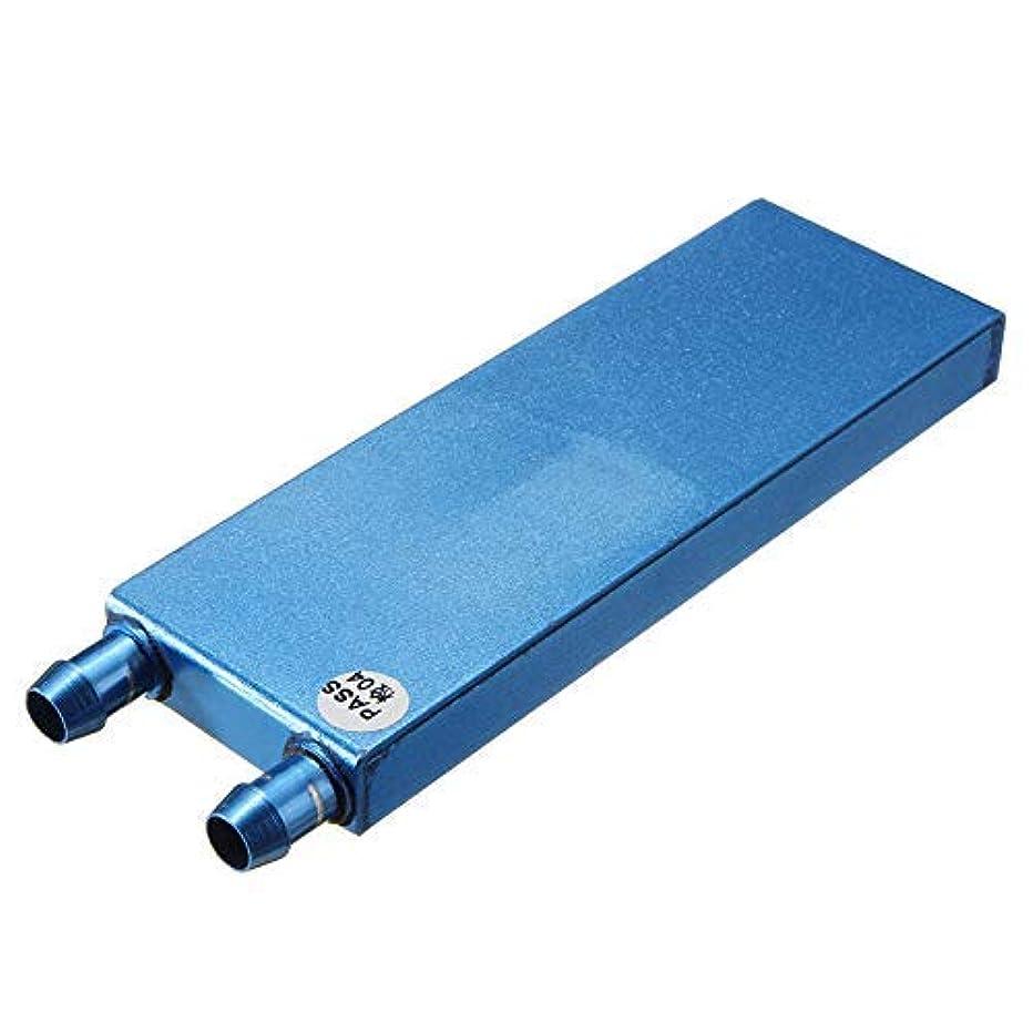 TEC Aluminum Water Cooling Block for CPU Graphics Radiator Heatsink Waterblock 122x41x12mm Model 2 Blue