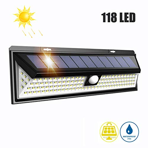 LTPAG Lamparas Solares LED Exterior, 118 LED Foco LED Solar