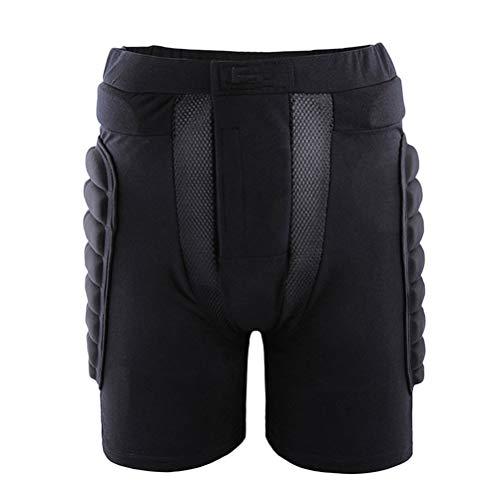 VORCOOL Pantalones Cortos de protección Acolchados de la Cadera Pantalones de Snowboard para Patinar Sobre Ruedas de Skate Patinaje al Aire Libre para niños Adultos Tamaño Negro XL