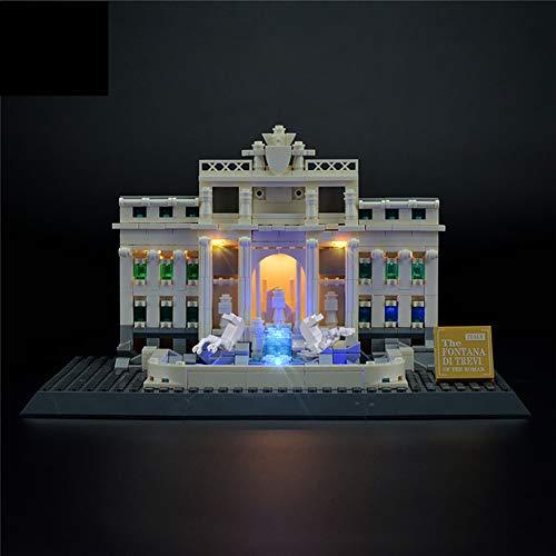 WFTD Conjunto de luz USB Compatible Lego 21020 Piscina de Deseos Romanos, Bloques de construcción DIY Lights LED Light Kit (no Incluye Modelo Lego)