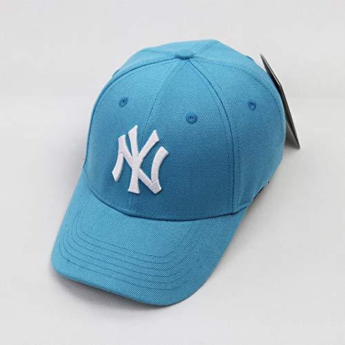 mlpnko Hut Dame Hard Top Baseball Hut Brief Stickerei Hip Hop Hut Cap weibliche Mode Wasser See blau weiß einstellbar