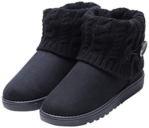Juleya Damen Ankle Boot Stiefeletten Winter Snowboot Schlupfstiefel Yeti Stiefel Warm Gefüttert Winterschuhe Outdoor Boots Arbeitsschuhe 36-41