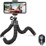 Treppiedi cellulare, cavalletto per iphone flessibile, Treppiedi Fotocamera Bluetooth Universale per Smartphone/Fotocamera Reflex/Fotocamera Digitale/Videocamera