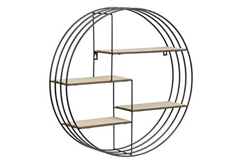 AC Design Furniture Regal Nadine, B: 45 x T:10 x H: 45 cm, Stahl, Schwarz