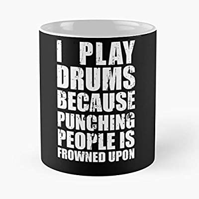 I P-lay Drums Because Punching People Is Frowned Upon Classic Mug - 11,15 Oz.