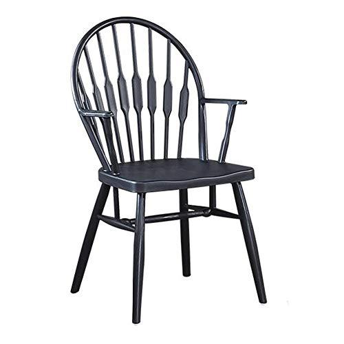 Stühle Möbel Windsor, Sessel Plastik Modernes Design Zuhause, Esszimmer, Küche, Schlafzimmer, Lounge Beistellstühle ZX Haushalt Wohnen (Color : Black)