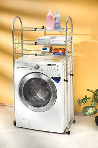 Estante para lavadora ajustable multifuncional/Estante para baño tubular/Estante Metalico