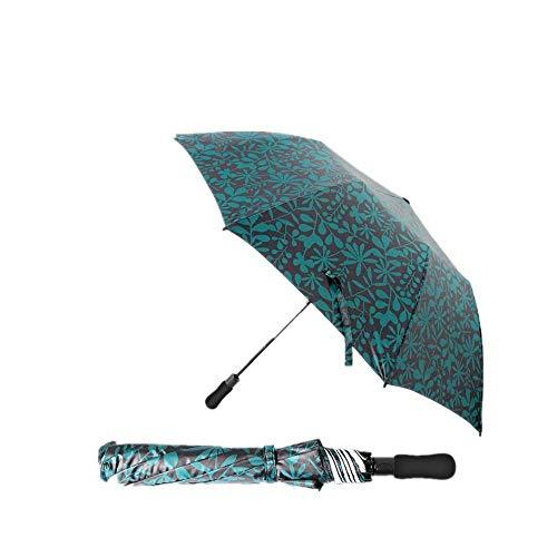 YNHNI Paraguas plegable plegable para exteriores, 8 huesos, totalmente automático, doble pliegue, portátil (color verde camuflaje)