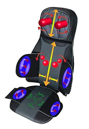[Lagerräumung!!] ObboMed SU-5990 Nacken-, Schulter-, Rückenmassage Sitzauflage mit Wärmefunktion, Vibration, Shiatsu Massage, Luftdruck im Taillenbereich und Gesäß, tiefes Kneten, Rollen, Massagegerät