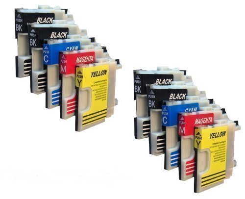 10 Druckerpatronen für Brother mit freier Farbauswahl LC980 LC1100 DCP-145C DCP-165C DCP-185C DCP-195C DCP-365CN DCP-375CW DCP-385C DCP-395CN DCP-585CW DCP-J715W DCP 6690CW MFC-250C MFC-255CW MFC-290C MFC-295C MFC-295CN MFC-355CW MFC-490CN MFC-490CW MFC-J615W MFC-670CDW MFC-790CW MFC-795CW MFC- 930CDN MFC-990CW MFC-930CDWN MFC-5490CN MFC-5890CN MFC-6490CN MFC-6490CW MFC-6890CN MFC-6890CDW MFC-5895CW