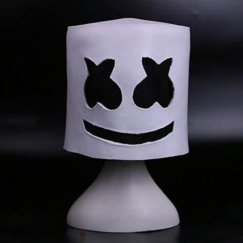 DJ Marshmello Cosplay Masker Volgelaat Latex Prop Helm Maskers Dames Man Masker Feest Cosplay Accessoires Bar Elektronisch Lettergreep, Wit