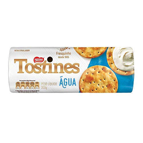 Biscoito, Cracker, Água, Tostines, 200g